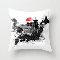 Abstract Tokyo-Shinjuku/Kyoto - Japan Throw Pillow