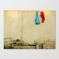 They woke up and one of them was smiling Canvas Print