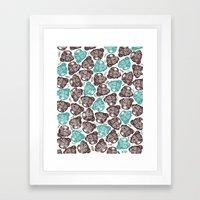 The Barking Pug Framed Art Print