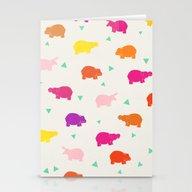 Happy Safari Hippo - Par… Stationery Cards