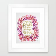 Anything's Possible – … Framed Art Print