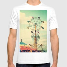 Get your ticket to ride. Mens Fitted Tee SMALL White