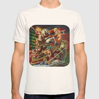 Party Boat to Atlantis Mens Fitted Tee Natural SMALL