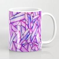 Pink purple watercolor paint crystals gem pattern Mug