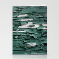 Green Paint III Stationery Cards