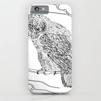iPhone & iPod Case featuring Owl In Tree (Print) by Levi Miller