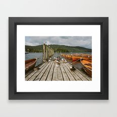 Birds on the Jetty Framed Art Print