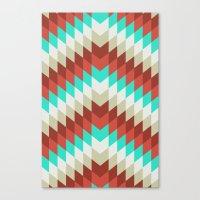 Snakeskin Chevron Canvas Print