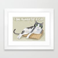 I am Owned By a Cat Framed Art Print