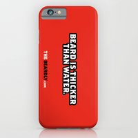 iPhone & iPod Case featuring BEARD IS THICKER THAN WATER. by The Beardly
