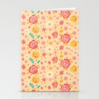 Peach Roses Stationery Cards
