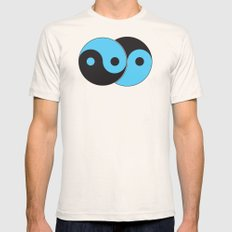 Reflections of Yin and Yang Mens Fitted Tee Natural SMALL