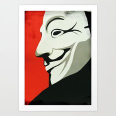 Fawkes Art Print