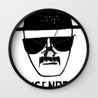 Heisenberg - Breaking Bad Sketch Wall Clock