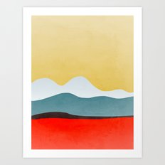 Abstract landscape 2 Art Print