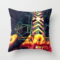 Carnival Lights, The Zip… Throw Pillow