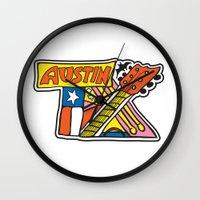 Austin TX Wall Clock