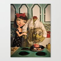 Cooking with Heart Canvas Print