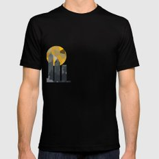 SkyScraper Black Mens Fitted Tee SMALL