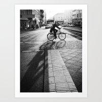 bike/shadow II Art Print