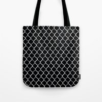Chain Link On Black Tote Bag