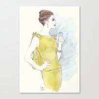 'Natalia' Watercolor Fas… Canvas Print