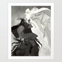 Krampus and Perchta Art Print
