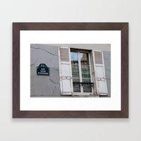 Rue Saint Eleuthere Framed Art Print