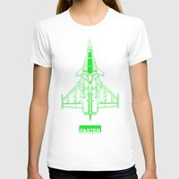 Faster | speed electronic sound Womens Fitted Tee White SMALL