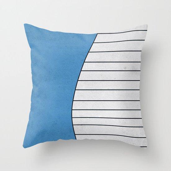 #321 Wailord - Pokemon Poster Minimalistic Design Throw Pillow
