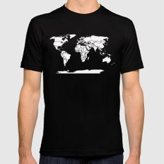 A Political Map of the World Mens Fitted Tee SMALL Black