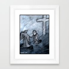 A Cold Season of Mourning Framed Art Print
