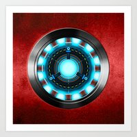 iron man Art Prints featuring Iron Man Iron Man by ThreeBoys