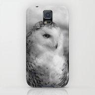 Snowy Owl - B & W Galaxy S5 Slim Case