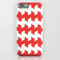 jaggered and staggered in poppy red iPhone 6 Slim Case