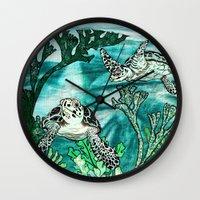 Myrtle Turtle. Wall Clock