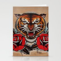 Old School Tiger And Ros… Stationery Cards