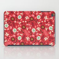 Fresh Blossoms (Reds) iPad Case