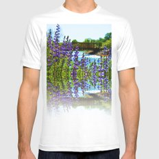 Reflection White Mens Fitted Tee SMALL