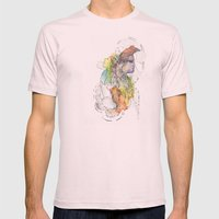 Abstract Portrait Illustration Watercolor Painting  Mens Fitted Tee Light Pink SMALL