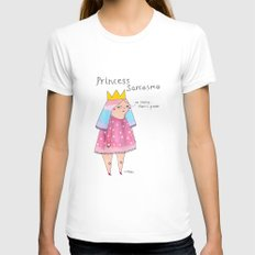 Princess Sarcasmo Womens Fitted Tee White SMALL
