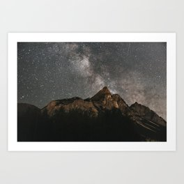 Art Print - Milky Way Over Mountains - Landscape Photography - regnumsaturni