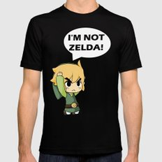 I'm not Zelda! (link from legend of zelda) SMALL Mens Fitted Tee Black