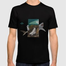 shark Mens Fitted Tee Black SMALL
