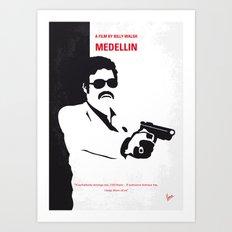 No526 My MEDELLIN minimal movie poster Art Print