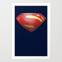 superman Art Prints featuring Superman by DeBUM
