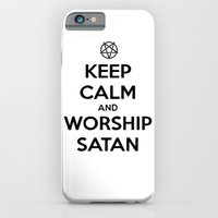 iPhone & iPod Case featuring Keep Calm and Worship Satan by Lunaramour