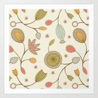 Mehndi Flower Art Print