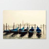 Gondolas in Color Canvas Print