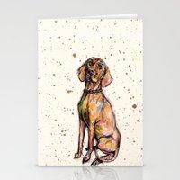 Hungarian Vizsla Dog Pup… Stationery Cards